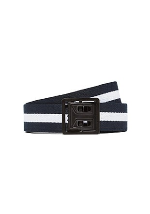 Laurel Wreath Striped Webbing Belt