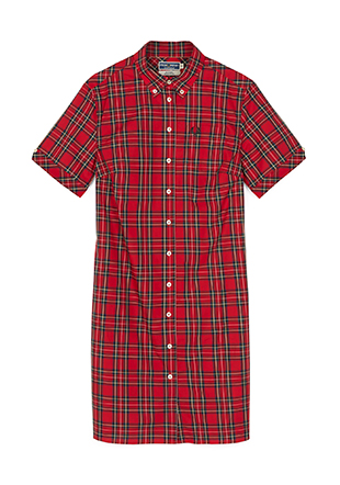 Reissues S/S Tartan Shirt Dress