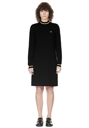 Reissues Tipped Turtleneck Dress