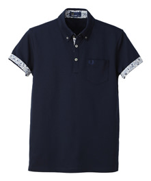 Men - Buttom Down Liberty Printed Polo Shirt