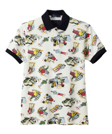 Men - nowartt Printed Polo Shirt