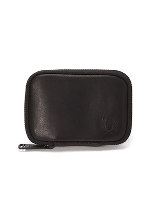 Zip Around Leather Compact Wallet
