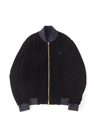 Velvet Bomber Neck Jacket