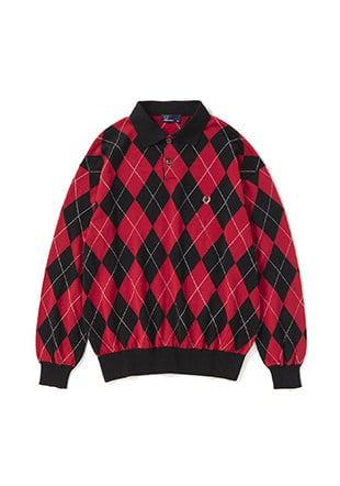 Argyle L / S Polo Sweater