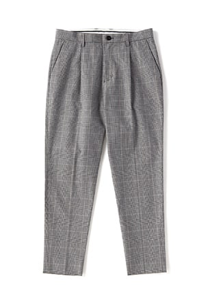 Tapered Check Pants