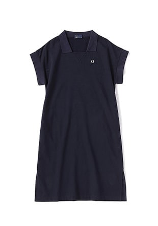 Gusset Neck Sweat Dress