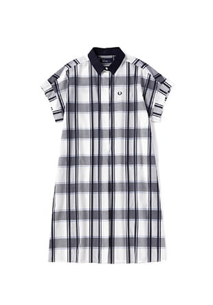Tartan Short Sleeve Shirt Dress