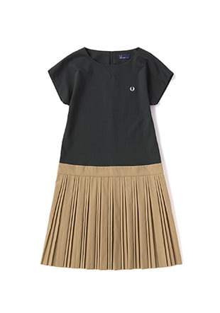 Block Pleated Dress