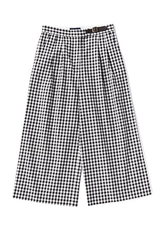 Gingham Wide Trousers