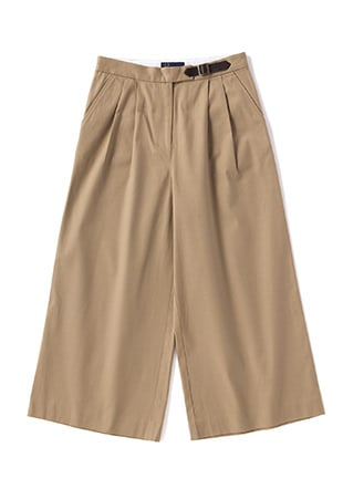 Twill Wide Trousers