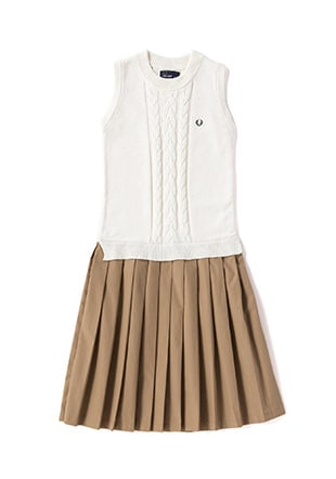 Cable Knitted Pleat Dress
