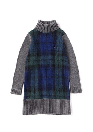 Tartan Knit Dress