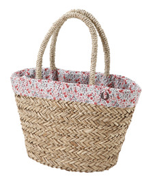 Liberty Printed Raffia Bag