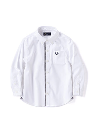 Kids Glencheck Trim Shirt