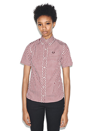 Reissues S/S Button Down Gingham Shirt