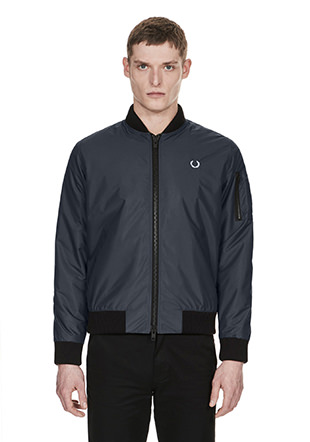Laurel Wreath Made In England Wadded Bomber
