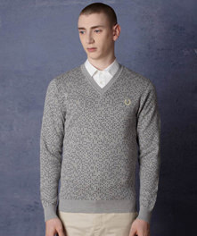 Space Dot Jacquard Sweater