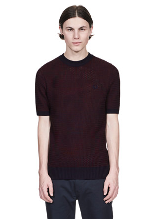Reissues Two Colour Knit Crew Neck Shirt