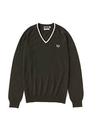Reissues Single Tipped V Neck Sweater