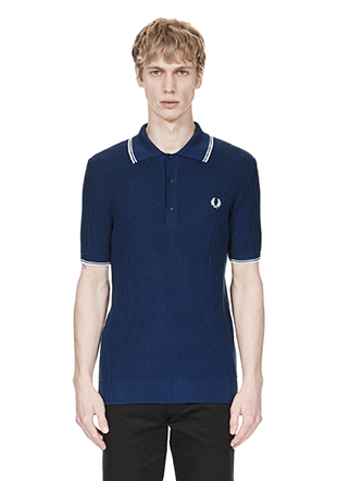 Reissues Textured Knitted Fred Perry Shirt