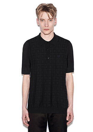 Laurel Wreath Jacquard Knitted Shirt