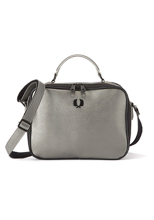 Metallic Saffiano Shoulder Bag