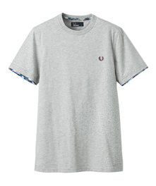 T-Shirt With Tartan Trim