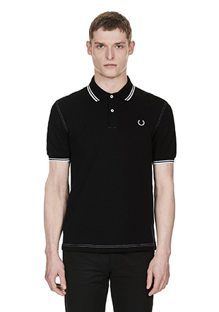 Laurel Wreath Contrast Stitched Pique Shirt