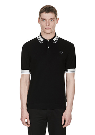 Laurel Wreath Contrast Tape Pique Shirt