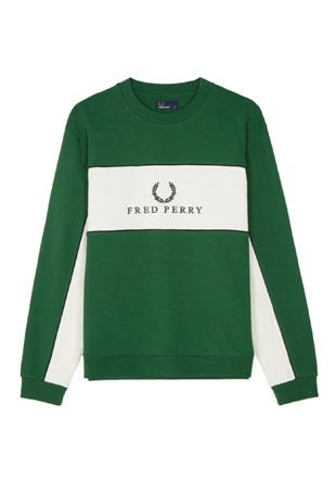 Panel Piped Sweatshirt