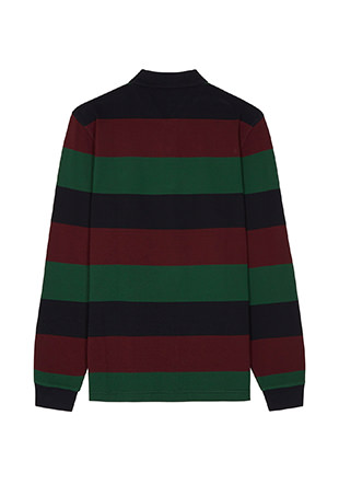 Enlarged Stripe Pique Shirt
