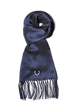 Laurel Wreath Tootal Polka Dot Silk Scarf