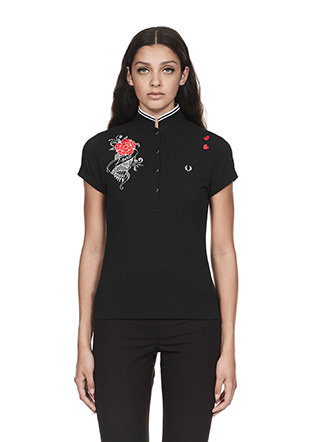 Amy Winehouse Embroidered Pique Shirt