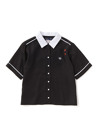 Amy Winehouse Embroidered Bowling Shirt