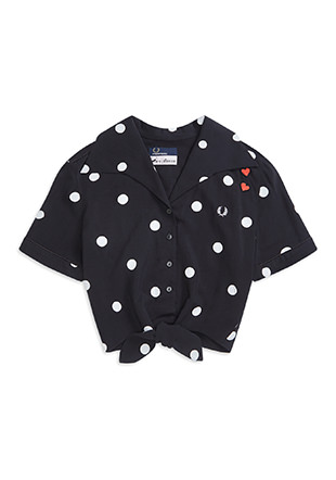 Amy Winehouse 50'S Polka Dot Shirt