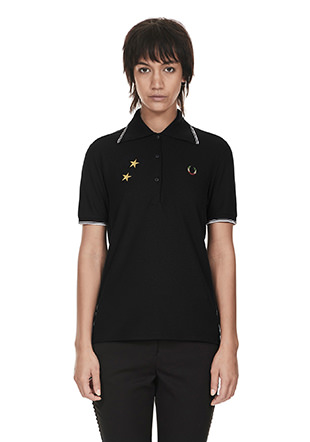 Bella Freud Star Embroidered Pique Shirt