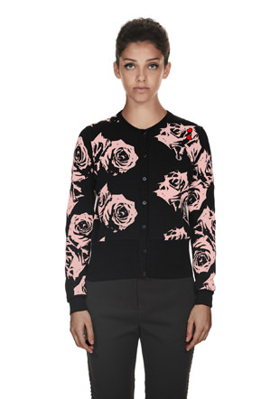 Amy Winehouse Rose Print Cardigan