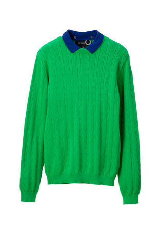 Raf Simons Crew Neck Cable Knit Sweat