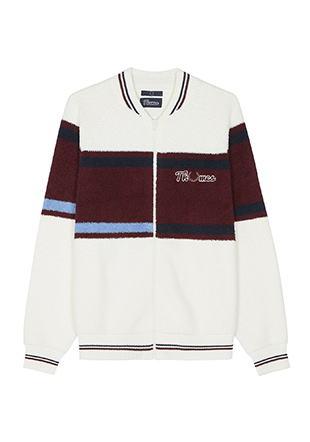 Thames Loop Knit Zip Bomber