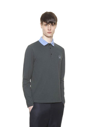 Raf Simons Long Sleeve Fred Perry Shirt With Detachable Collar