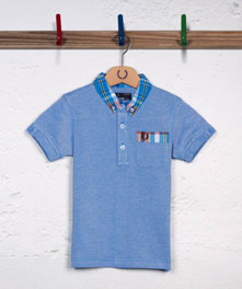 Madras Collar Oxford Polo Shir