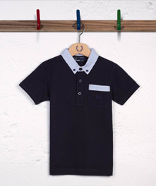 Seersucker Trim Polo Shirt