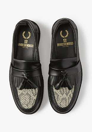 Fred Perry George Cox Embossed Tassel Loafer