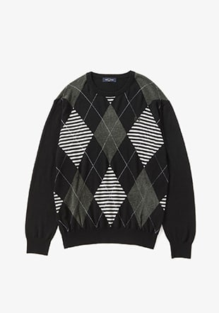 Argyle Crew Neck Sweater