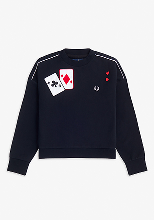 Amy Winehouse Applique Sweatshirt