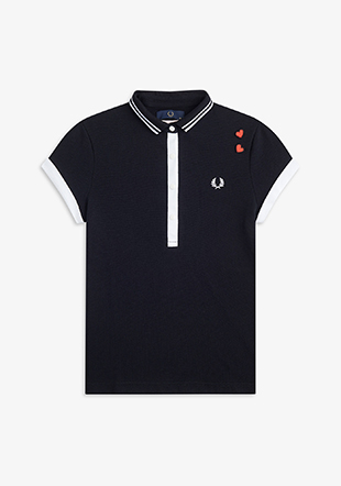 Amy Winehouse Contrast Polo Shirt