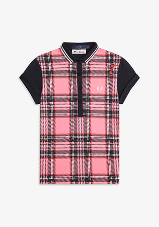 Amy Winehouse Tartan Print Shirt